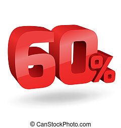 60 percent illustration