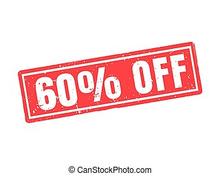 60 percent off red stamp style
