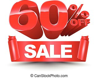 60 percent off sale red