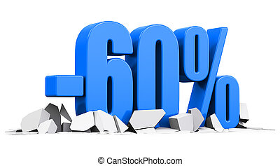 60 percent sale and discount advertisement concept