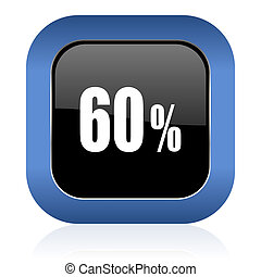 60 percent square glossy icon sale sign