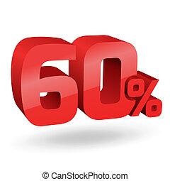 60, percento, illustrazione