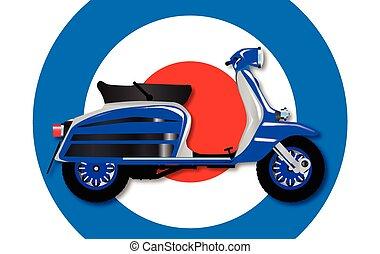 60, scooter, symbool, uk