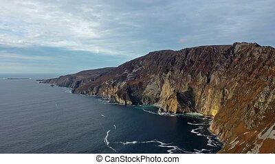 601, irlandia, hrabstwo, feet, -, ocean, powstanie, donegal,...