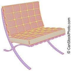 60.eps, fauteuil, vecteur, moderne