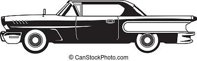 60s, -, coches clásicos