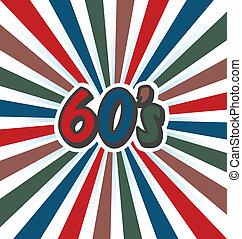 60s Vector Vintage Art Background
