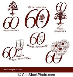 60th, 記念日, コレクション, サイン
