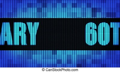 60th Anniversary Front Text Scrolling LED Wall Pannel...