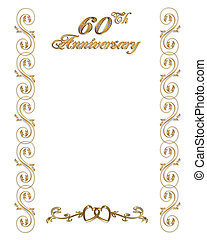 60th anniversary invitation border - 60th wedding...