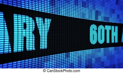 60th Anniversary Side Text Scrolling LED Wall Pannel Display...