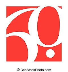 60th, conception, anniversaire, gabarit