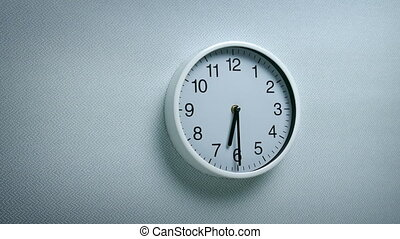 6.30 Clock On Wall - Generic clock on wall showing 6.30...