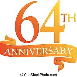 64 Year Ribbon Anniversary