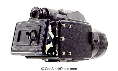 645 medium format camera opened - It is old classic 645 ...