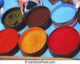 649, natureza, coloração, tinturas, em, cuzco, peru