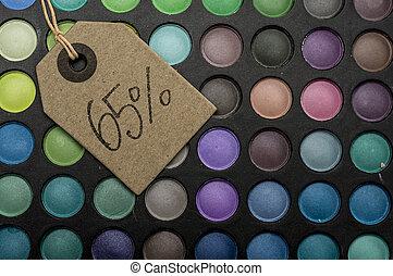 65 percent off in makeup