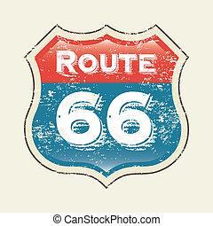 66, ルート