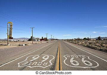 66, bagdad, kalifornia, történelmi, -, útvonal