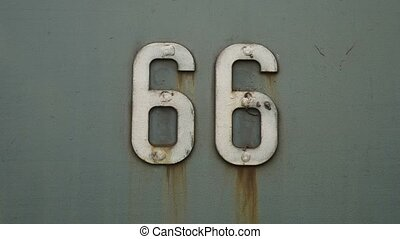 66 old iron road sign background texture symbol United...