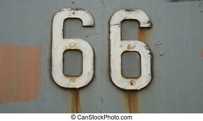 66 old iron texture road sign background symbol United...