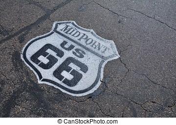 66, rota, histórico,  midpoint