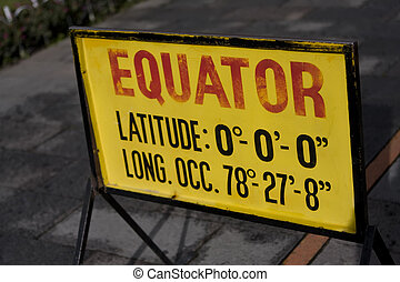 671 Equator sign in Quito Ecuador - Equator sign in Quito...