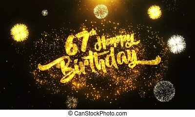 67th Happy Birthday Text Greeting, Wishes, Celebration,...