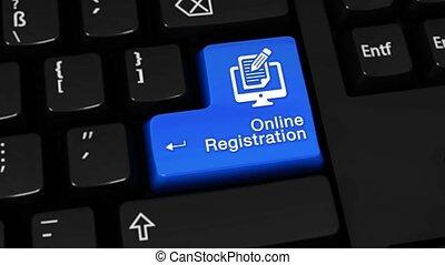 68., clavier, button., mouvement, informatique, ligne, enregistrement, rotation