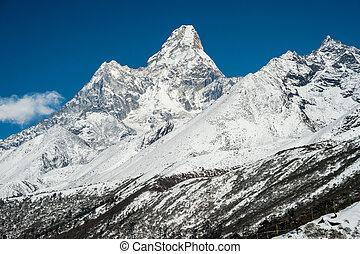 (6814, ama, moutain, nepal, m), himalaje, dablam