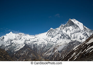 (6993m), fishtail, machapuchare, /