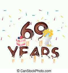 69th Years Happy Birthday card