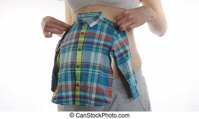 6k., pregnant, habillement, heureux, applique, gosses, baby...