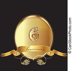 6th anniversary birthday seal
