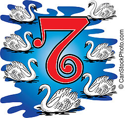 7ème, jour, noël