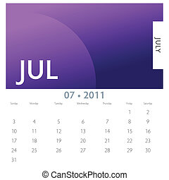 7月, カレンダー