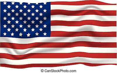 7月, 旗, イラスト, day., アメリカ人, ベクトル, 4, th, icon., 漫画, 独立, 幸せ