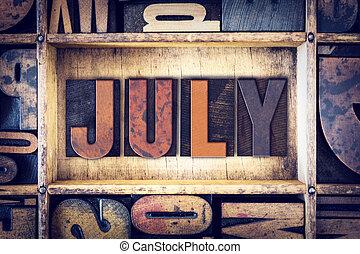 7月, 概念, タイプ, 凸版印刷