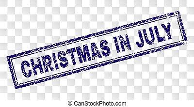 7月, 長方形, クリスマス, 切手, 傷付けられる