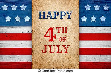 7月4日, 旗, 幸せ