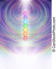 7, エネルギー, フィールド, chakras