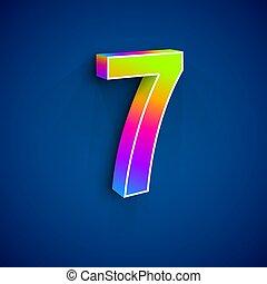7, ベクトル, 数, 3d
