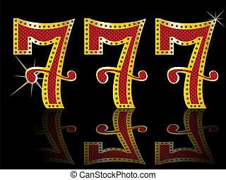 7, 幸運, 機械, スロット, jackpot