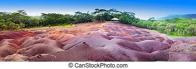 7, 観光客, ほとんど, パノラマ, -, マリシャス, 有名な場所, 色, 地球