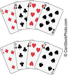 7, 8, ポーカー