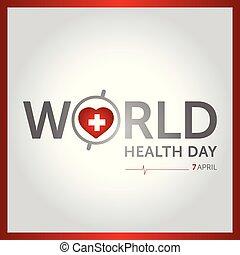 7 april world health day concept design vector illustration