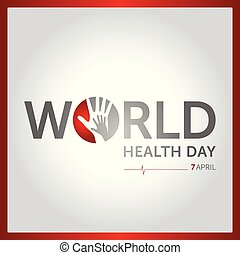 7 april world health day concept design vector illustration