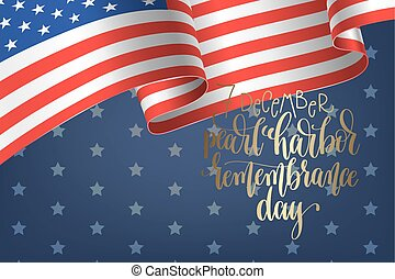 7 december pearl harbor remembrance day calligraphy poster