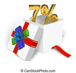7% discount concept