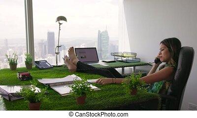 7 Environmentalist Woman Barefoot